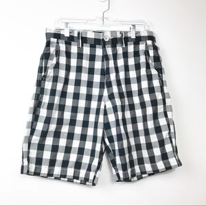 American Eagle Outfitters Black Check Shorts 30